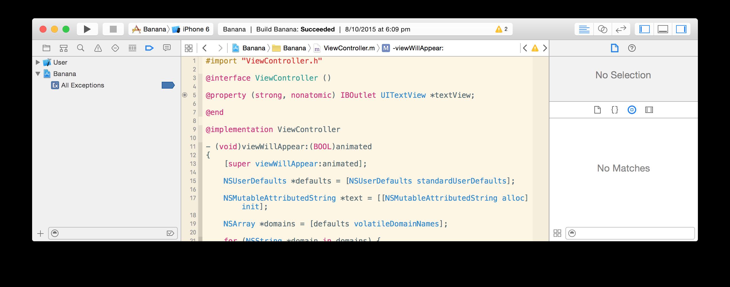 Xcode Breakpoints Navigator
